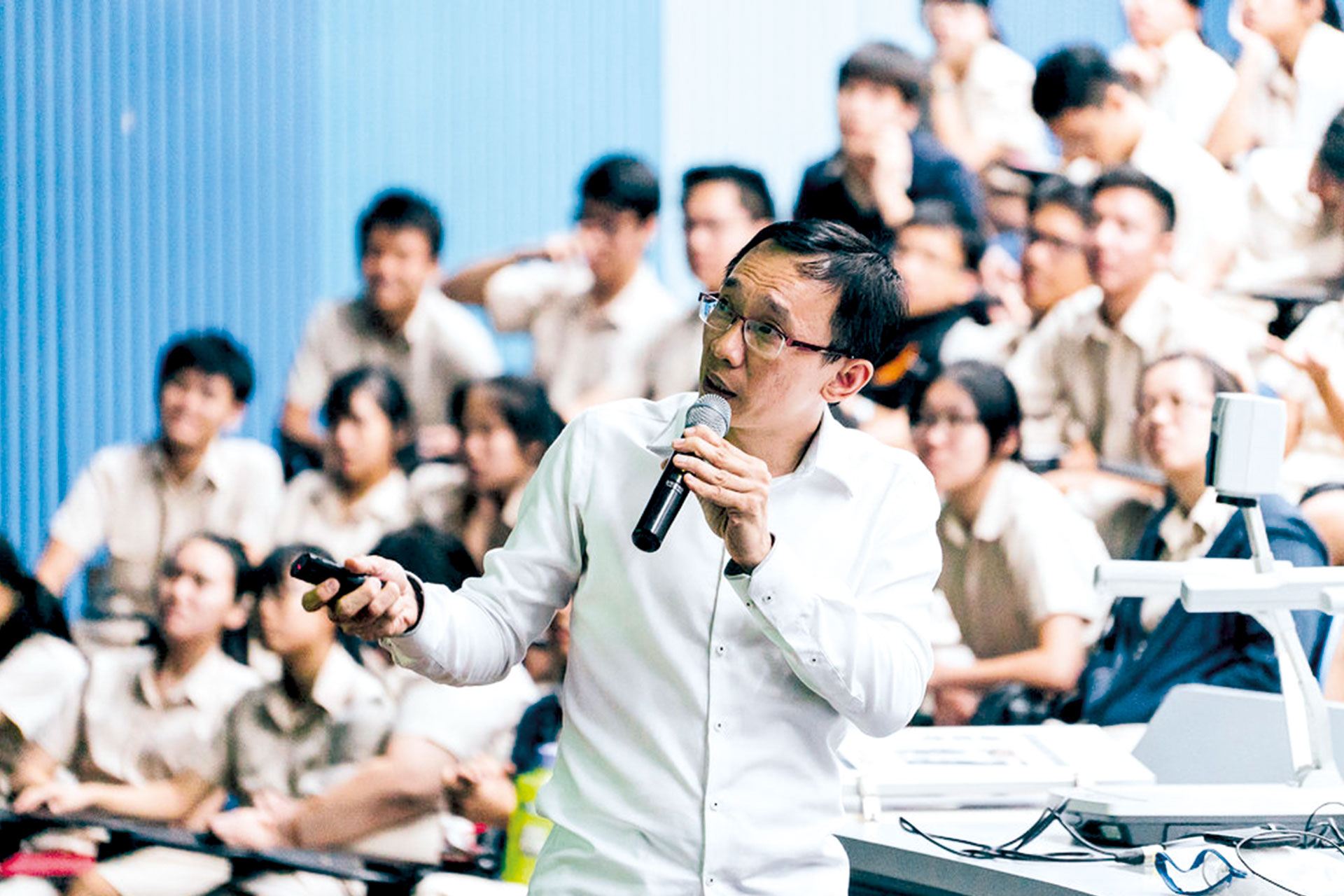 Mr Poh regularly conducts cyber wellness courses in schools.