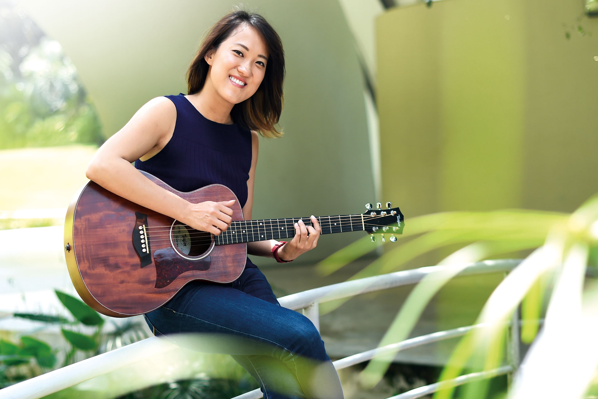 Ms Tan uses music as an avenue to explore her life experiences and to connect with others.
