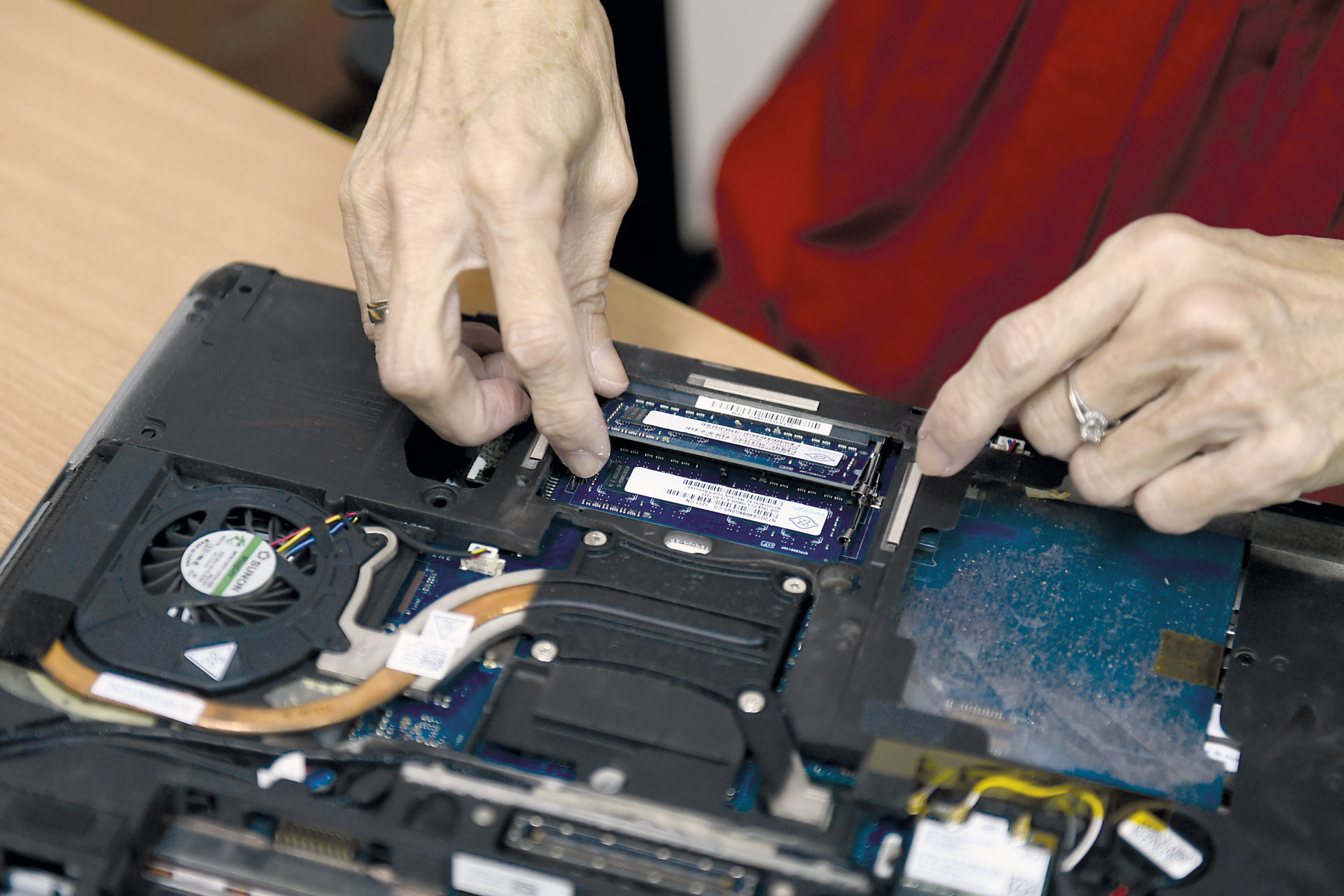 The 62-year-old is also adept at fixing computers.