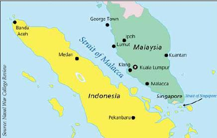 Map 1. The Straits of Malacca and Singapore.
