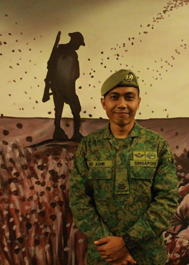 3WO Muhammad Ashik, Delegation Sergeant Major for the SAF contingent.