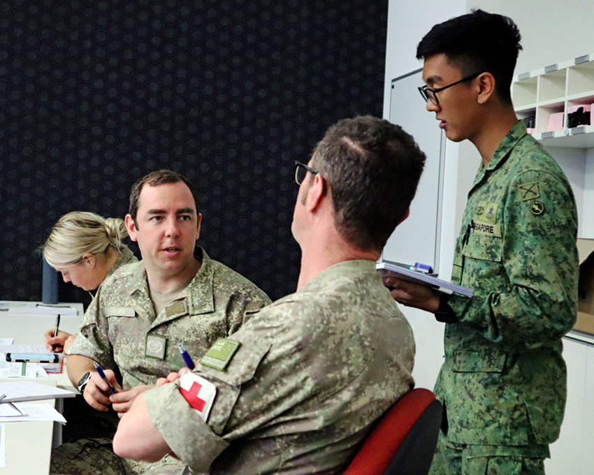 ME1 Azmi working closely with the FPDA nations to coordinate manoeuvres and resupplies.