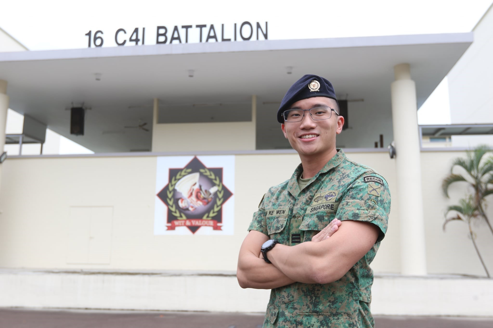 CPT Tan Ke Wen was inspired to join the Army by his brother who had signed on before him.