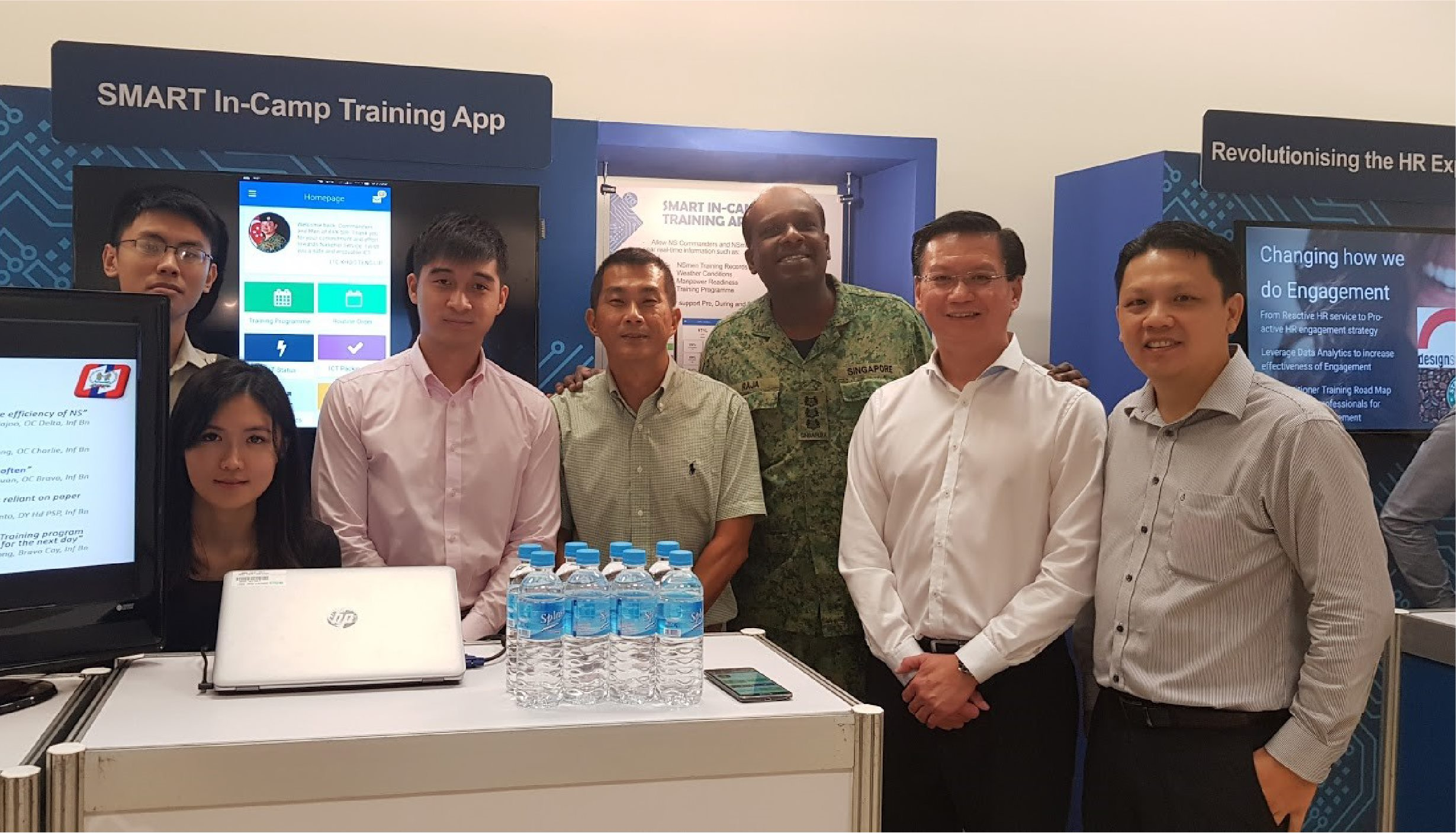 Group photo of the SMART ICT app team with Chief Signal Officer, COL Rajagopal