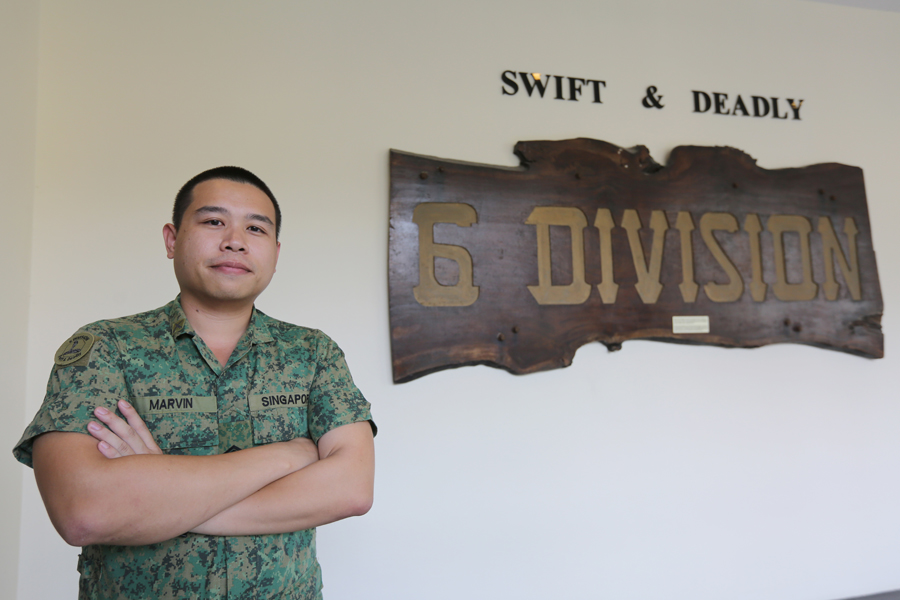 SSG (NS) Wang Kangwei Marvin from Fire Support Section, 76 SIB