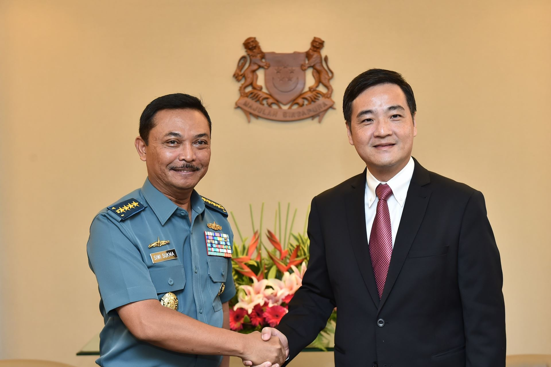 Indonesian Navy Chief Makes Introductory Visit to Singapore
