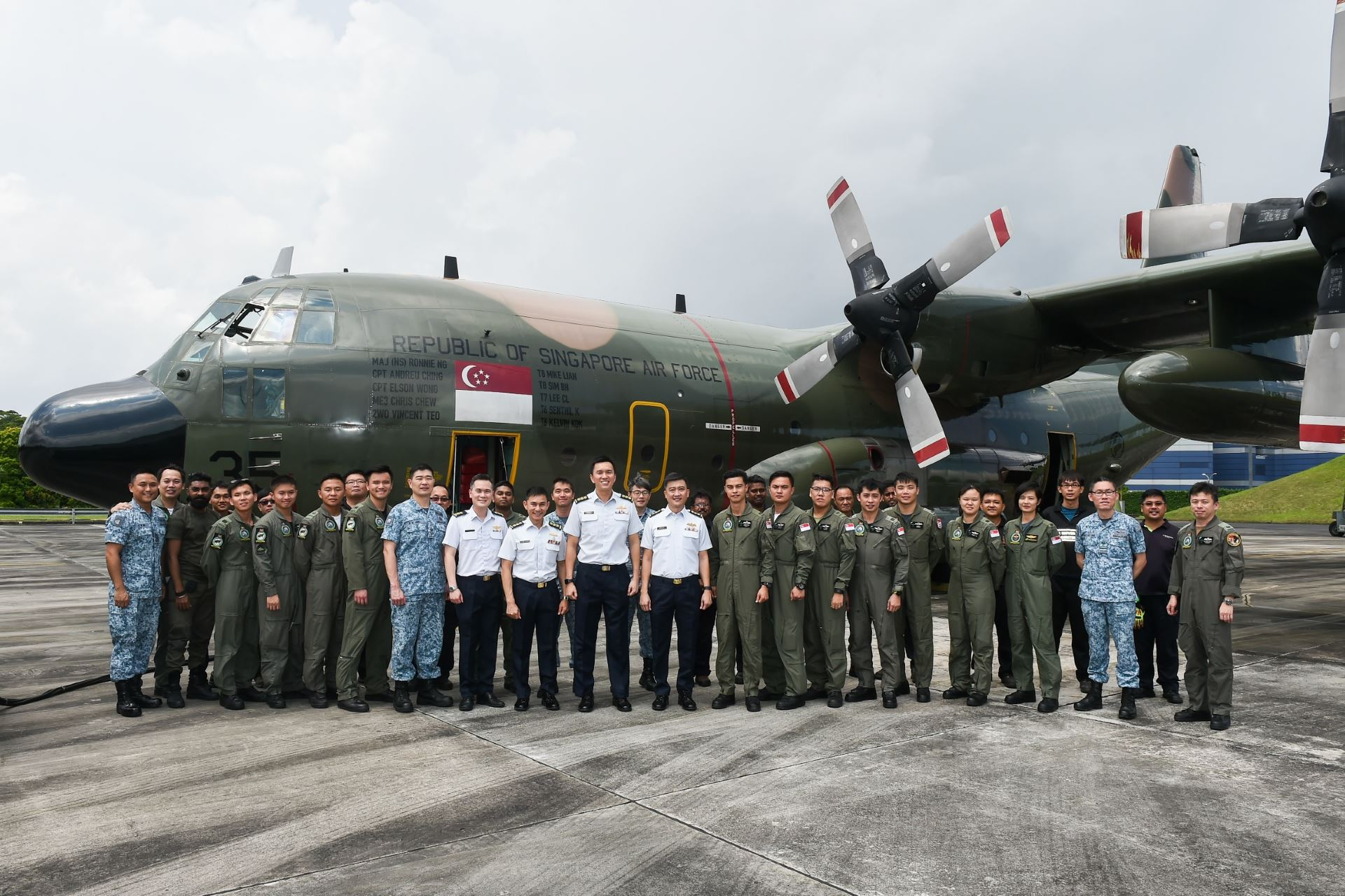 Senior officers with the Singapore Armed Forces team deployed to support the Indonesian Government's rehabilitation and reconstruction efforts in Sulawesi, Indonesia.
