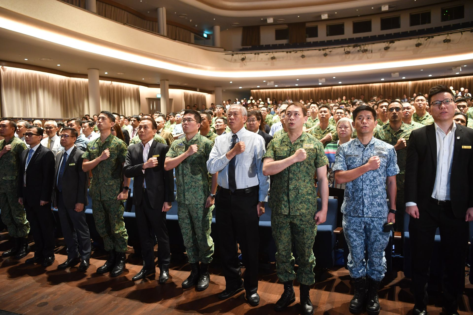 Servicemen reaffirm commitment to the defence of Singapore