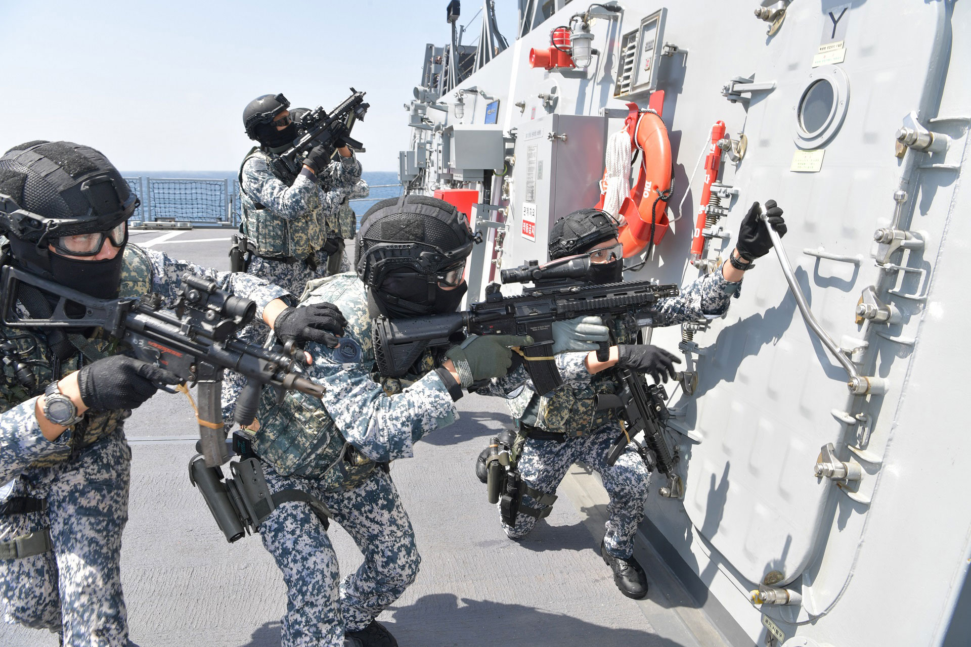 ADMM-Plus navies strengthen maritime security cooperation in multinational exercise