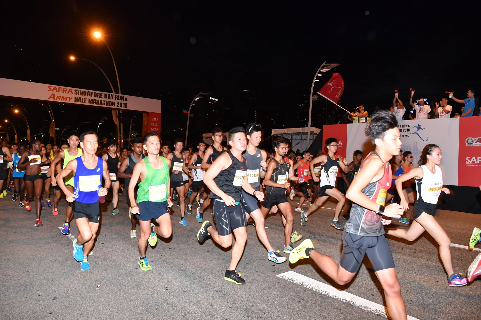 Largest number of SAF National Servicemen's families in SAFRA S'pore Bay Run and Army Half Marathon