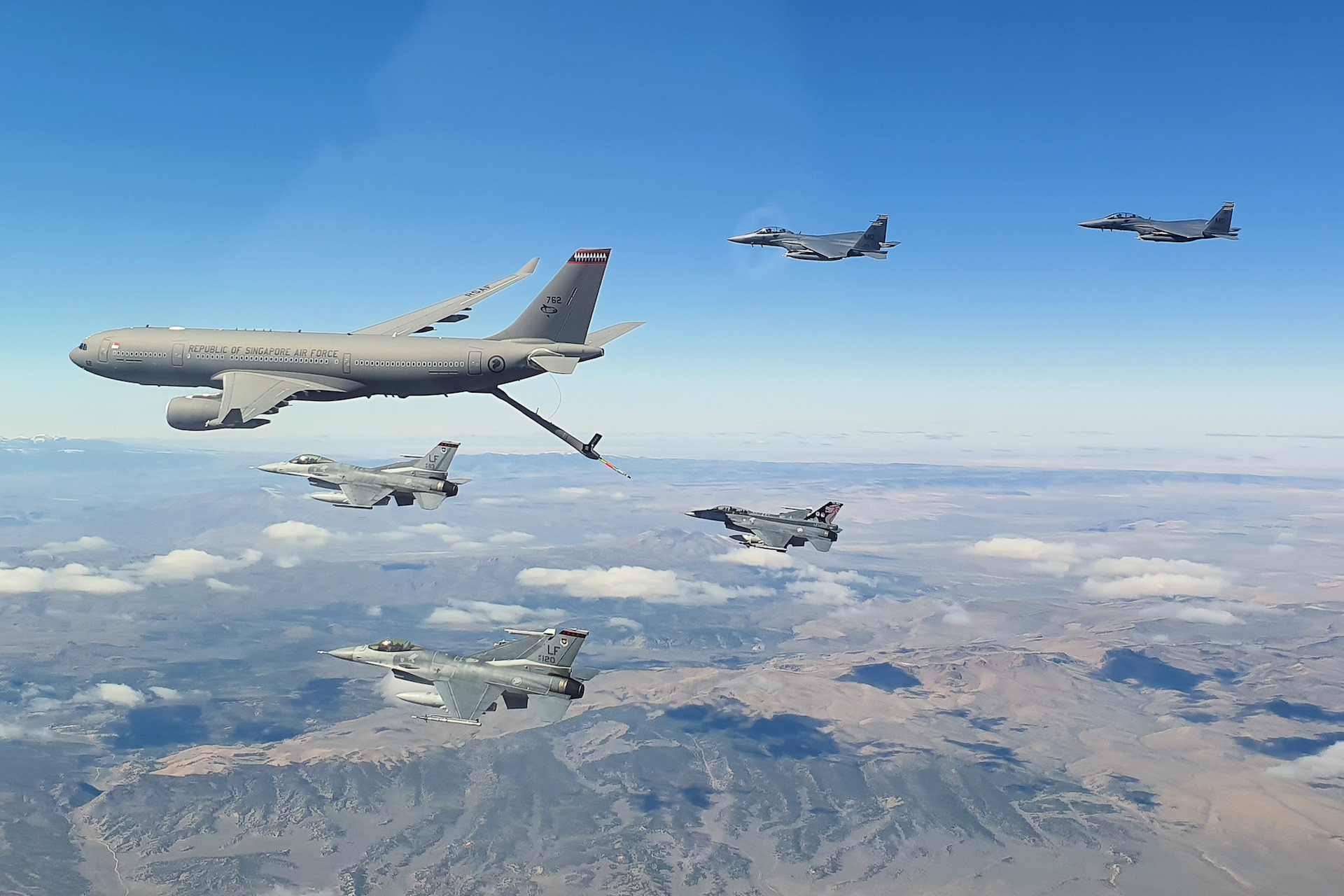 RSAF's refuelling plane makes overseas exercise debut