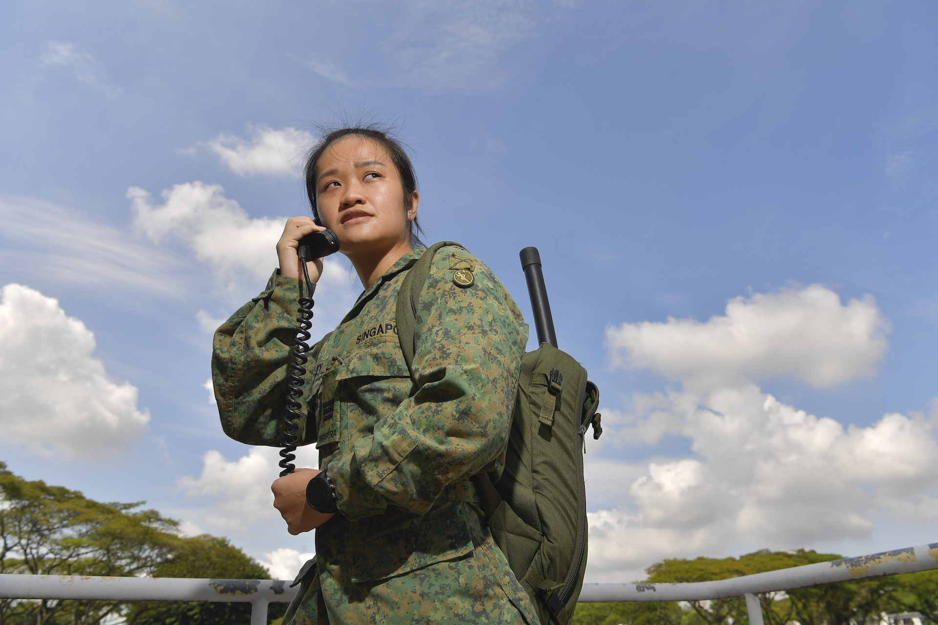 Meet the SAF's only female Ground Forward Air Controller