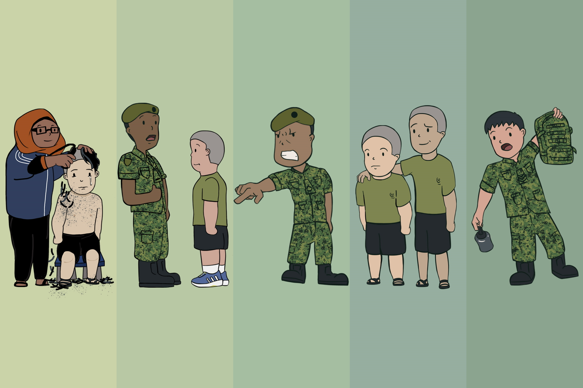 Five people you'll meet on enlistment day