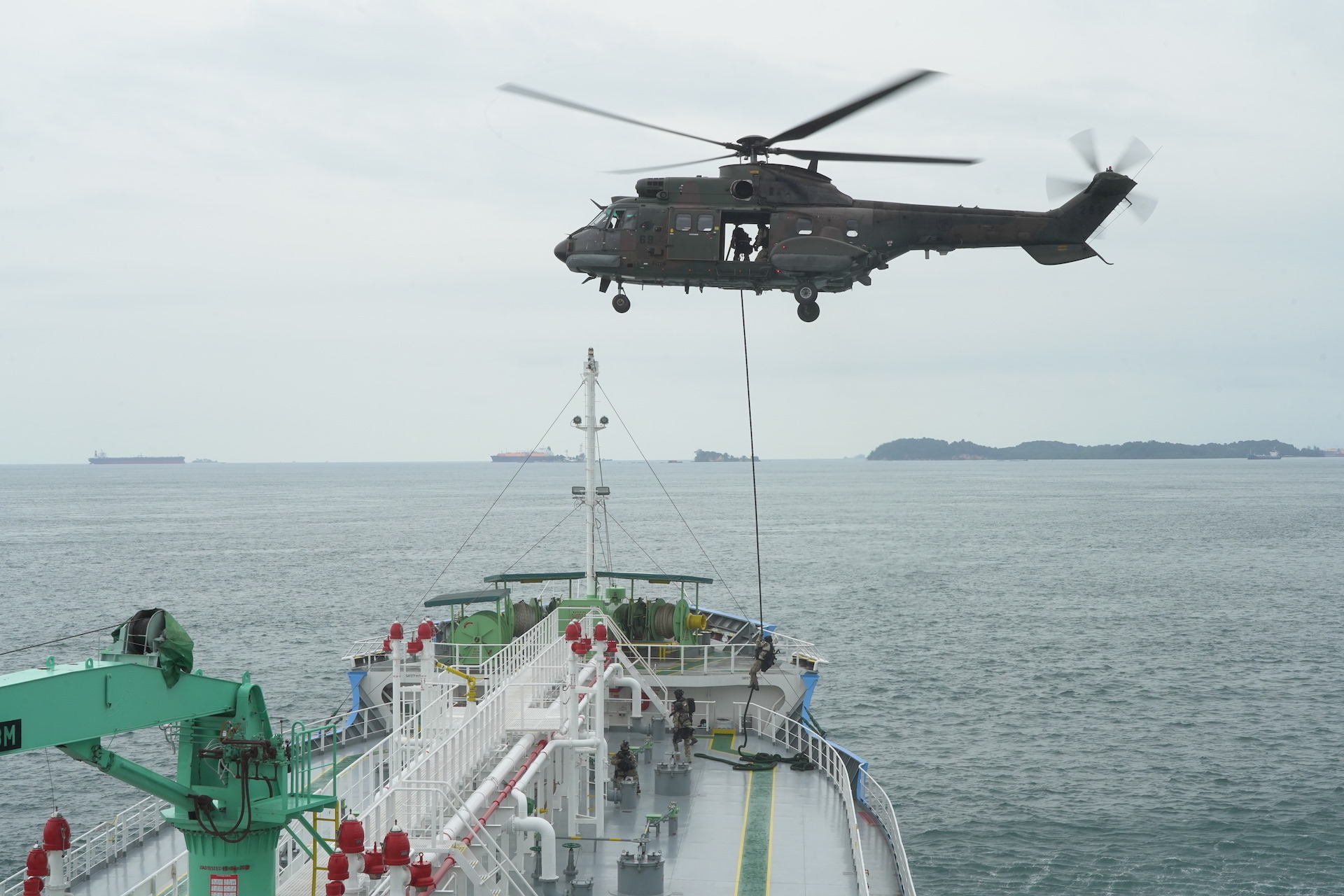 Maritime exercises test national agencies' response against security threats