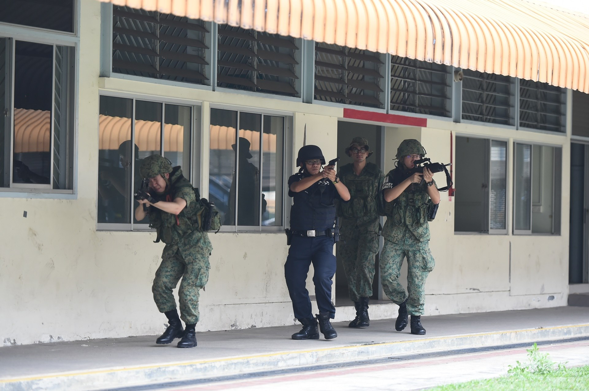 SAF, SPF hold joint homeland security training regularly