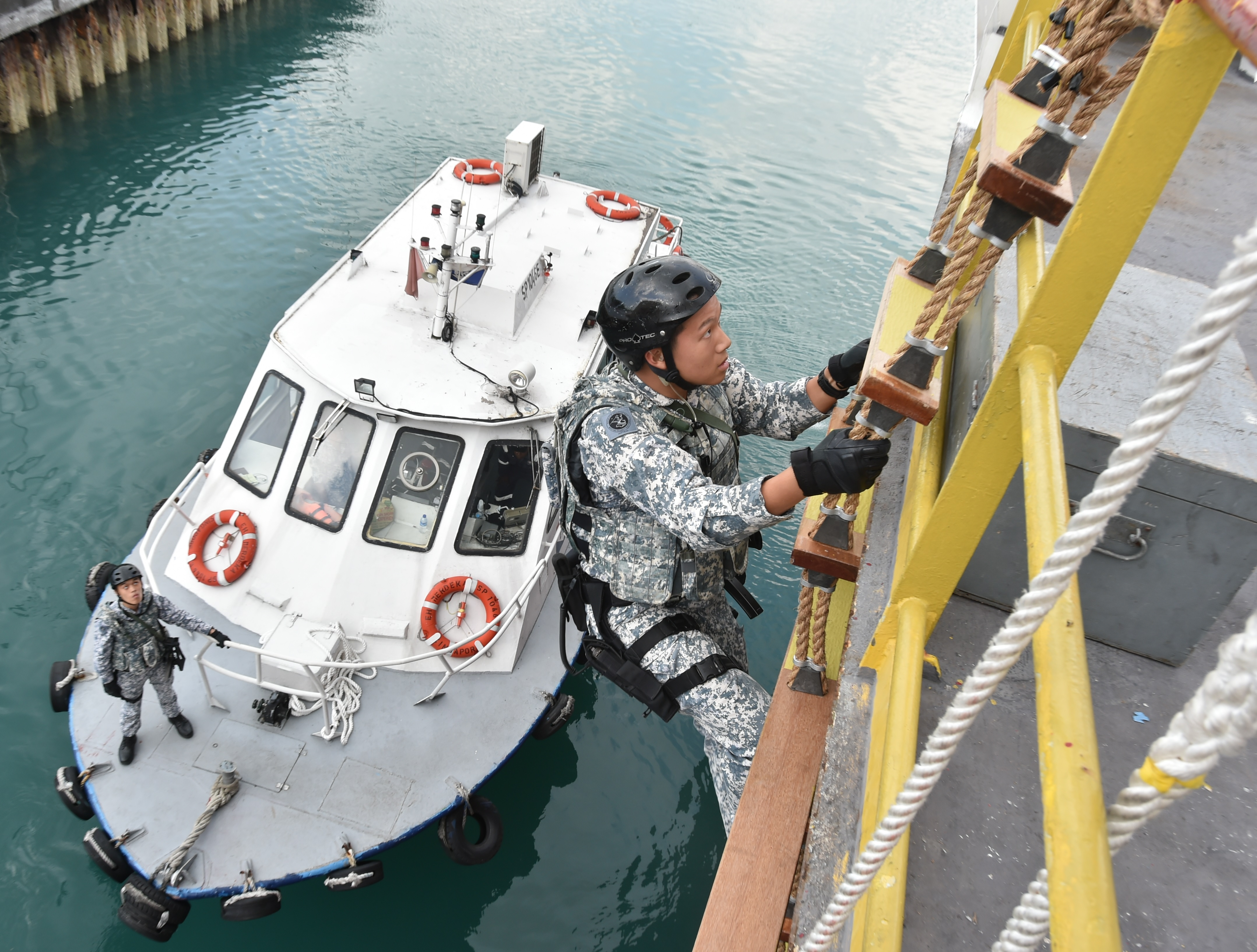Marshals of the sea safeguarding the S'pore Strait