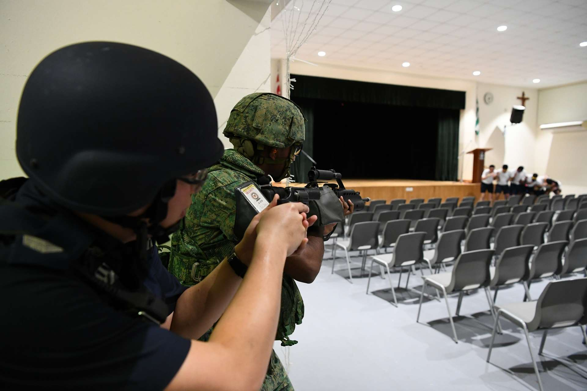 SAF, SPF in joint counter-terrorism exercise