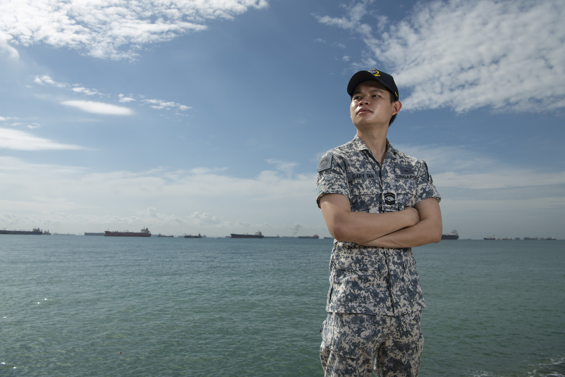 Struggling swimmer who became a Sea Marshal