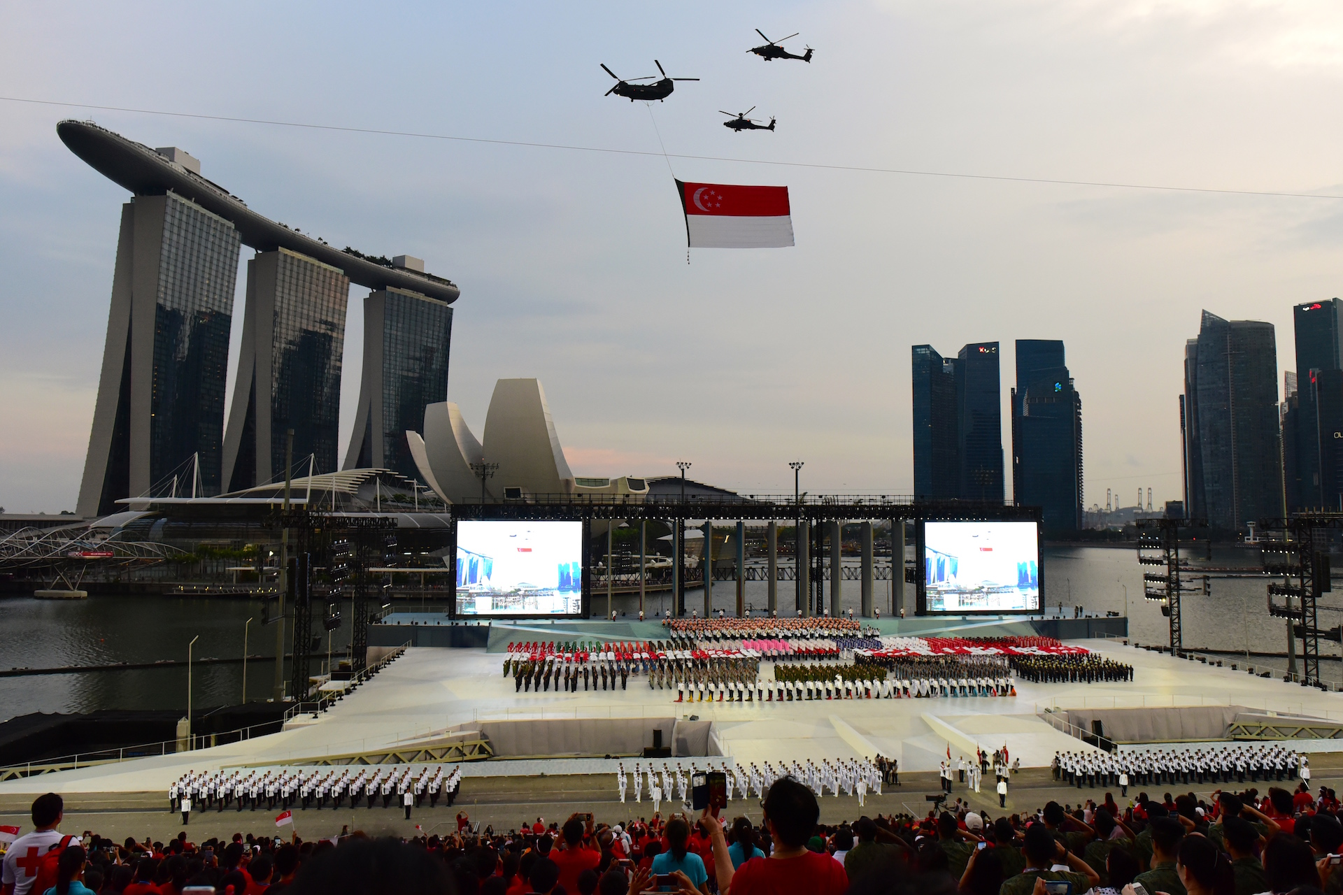 Largest ever aerial display at NDP 2018