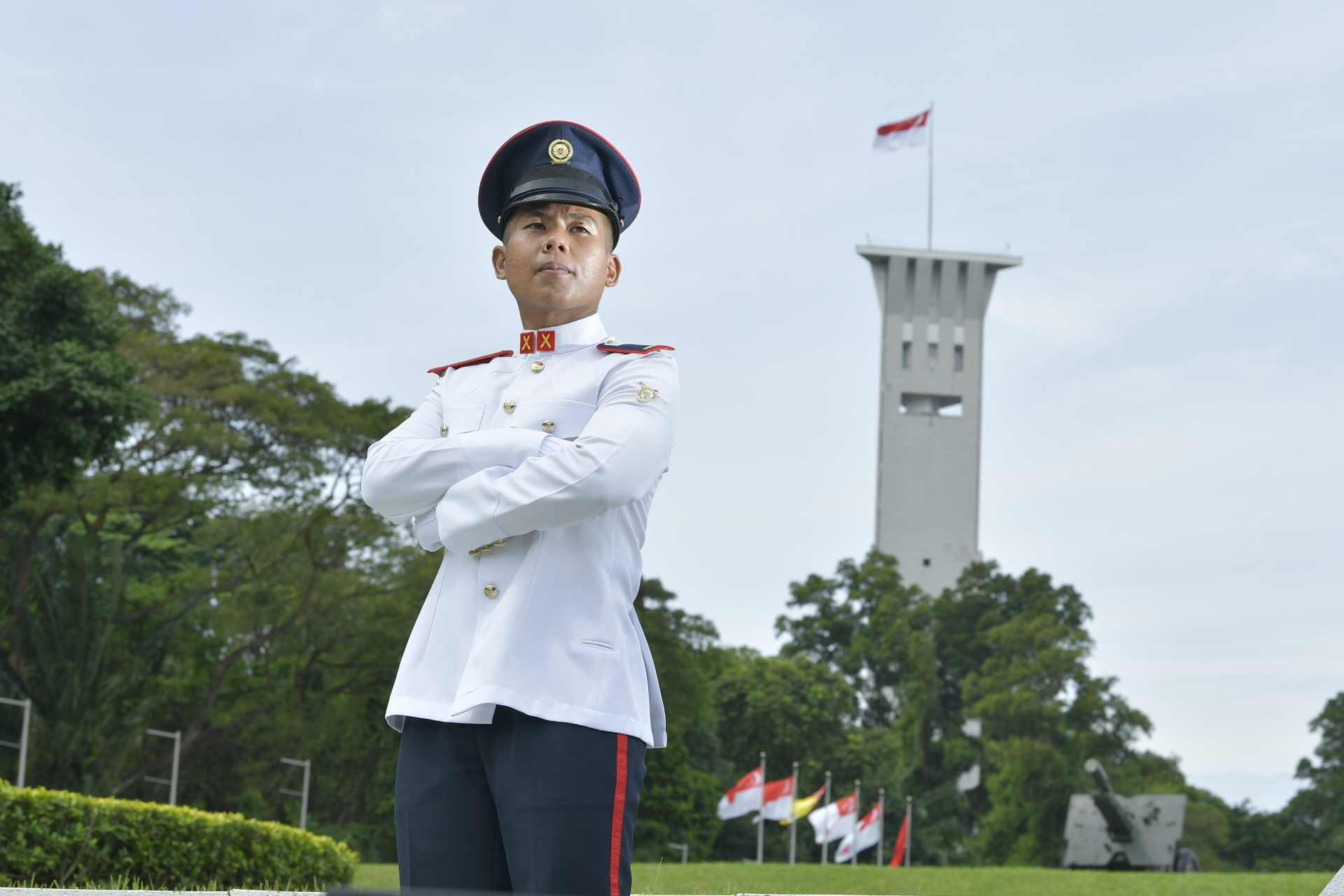 Shaping up to be an SAF officer