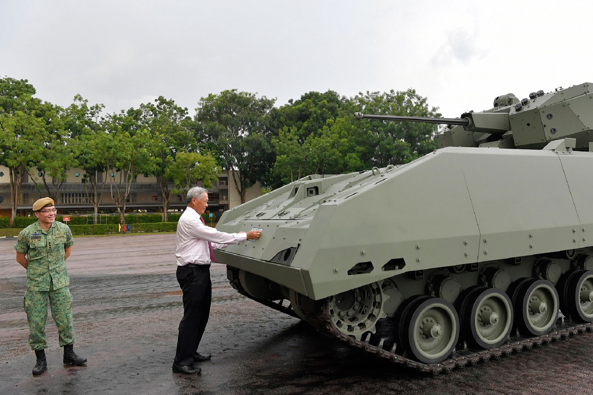 SAF Armour marks golden jubilee with commissioning of new Hunter vehicle