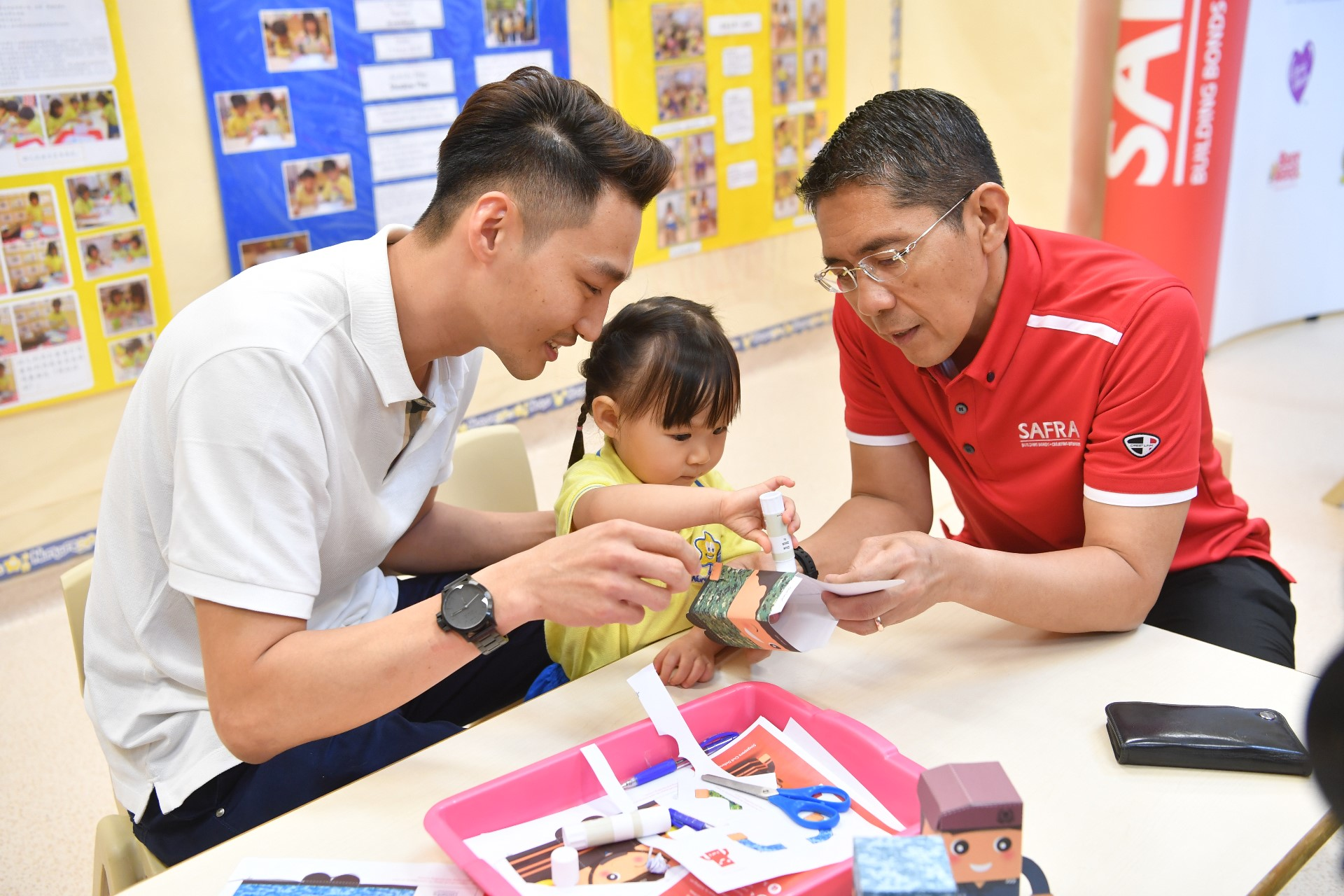 Papercraft messages from pre-schoolers, SAF Day deals to thank NSmen