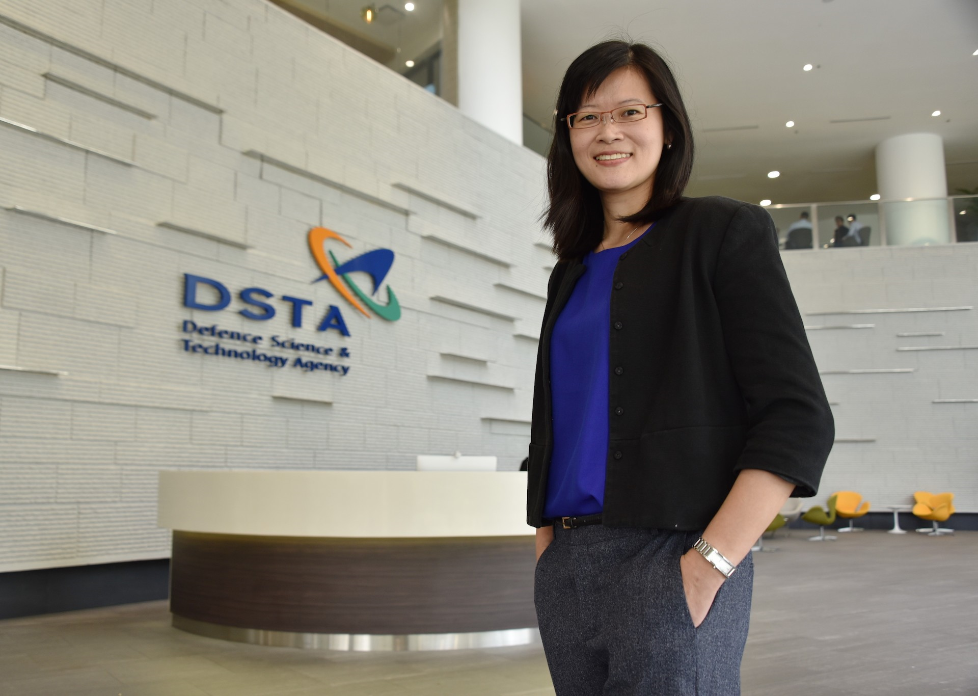 She's a leader in Spore's defence tech community
